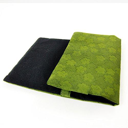 「職人による日本製 金襴ブックカバー 【緑色】」 文庫カバー ...