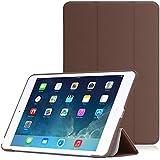Apple iPad Mini 3, 2 ,1 ケース - ATiC iPad Mini3 (2014), Mini2 (2013 ),Mini (2012)タブレット専用開閉式三つ折薄型スタンドケース。 COFFEE (オートスリープ機能付き)(iPad mini 4に適応ない)