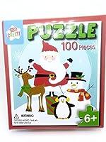 サンタと雪だるま100ピースジグソーパズル