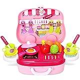 Bemixc おままごと キッチン 子供玩具 クッキング トイ おでかけごっこ遊び 3歳 4歳 5歳 女の子 おもちゃ クリスマスプレゼント  お祝い お誕生ギフト