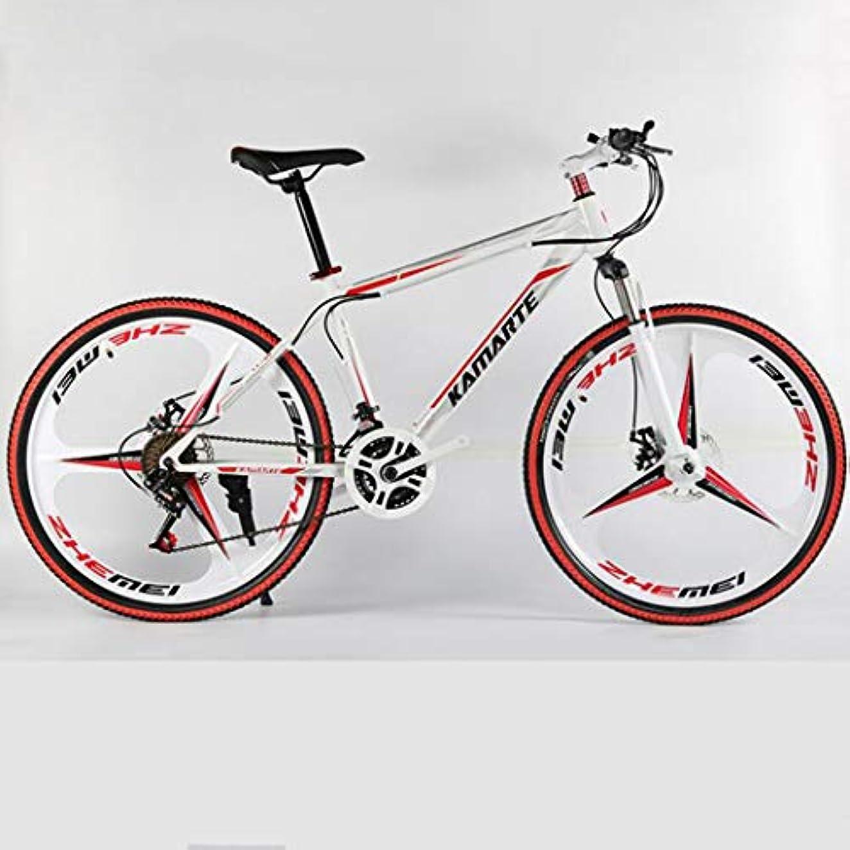 シガレット風味立場26インチのマウンテンバイク自転車 21/24/27/30可変速度オフロードバイク、 ダブルディスクブレーキ、 ハイカーボンスチールフレーム、 衝撃吸収フロントフォーク