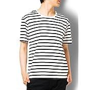 Doublefocus ボーダーTシャツ 半袖 メンズ ティーシャツ シンプル 人気 トレンド