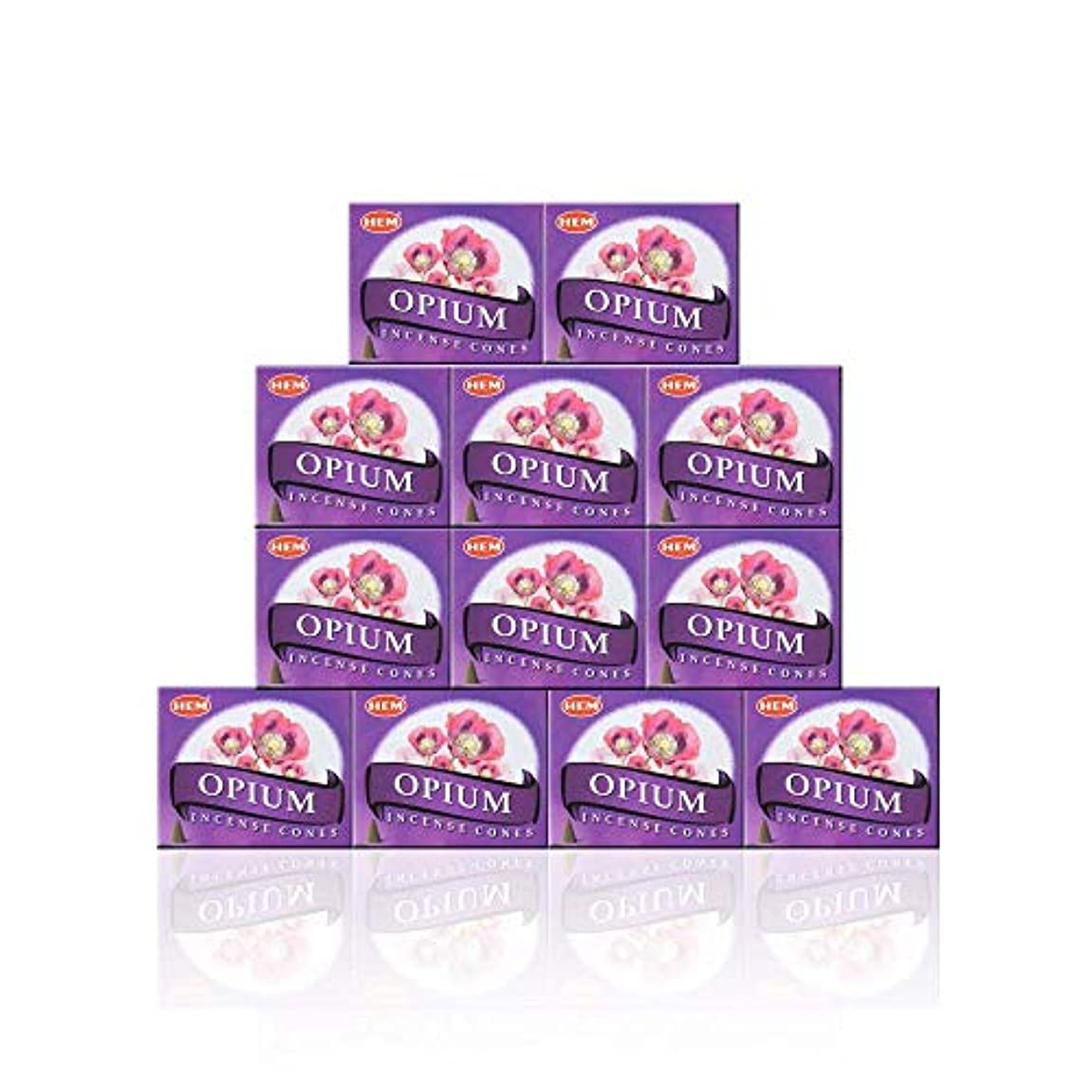 限られた特に荷物HEM(ヘム) オピウム香 コーンタイプ OPIUM CORN 12箱セット