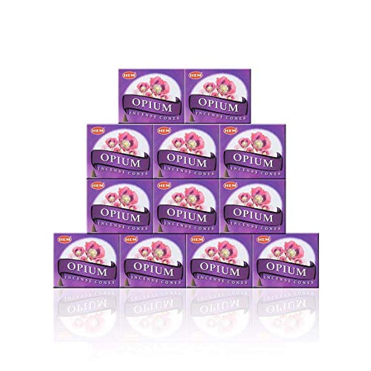 従う工夫するコーンウォールHEM(ヘム) オピウム香 コーンタイプ OPIUM CORN 12箱セット
