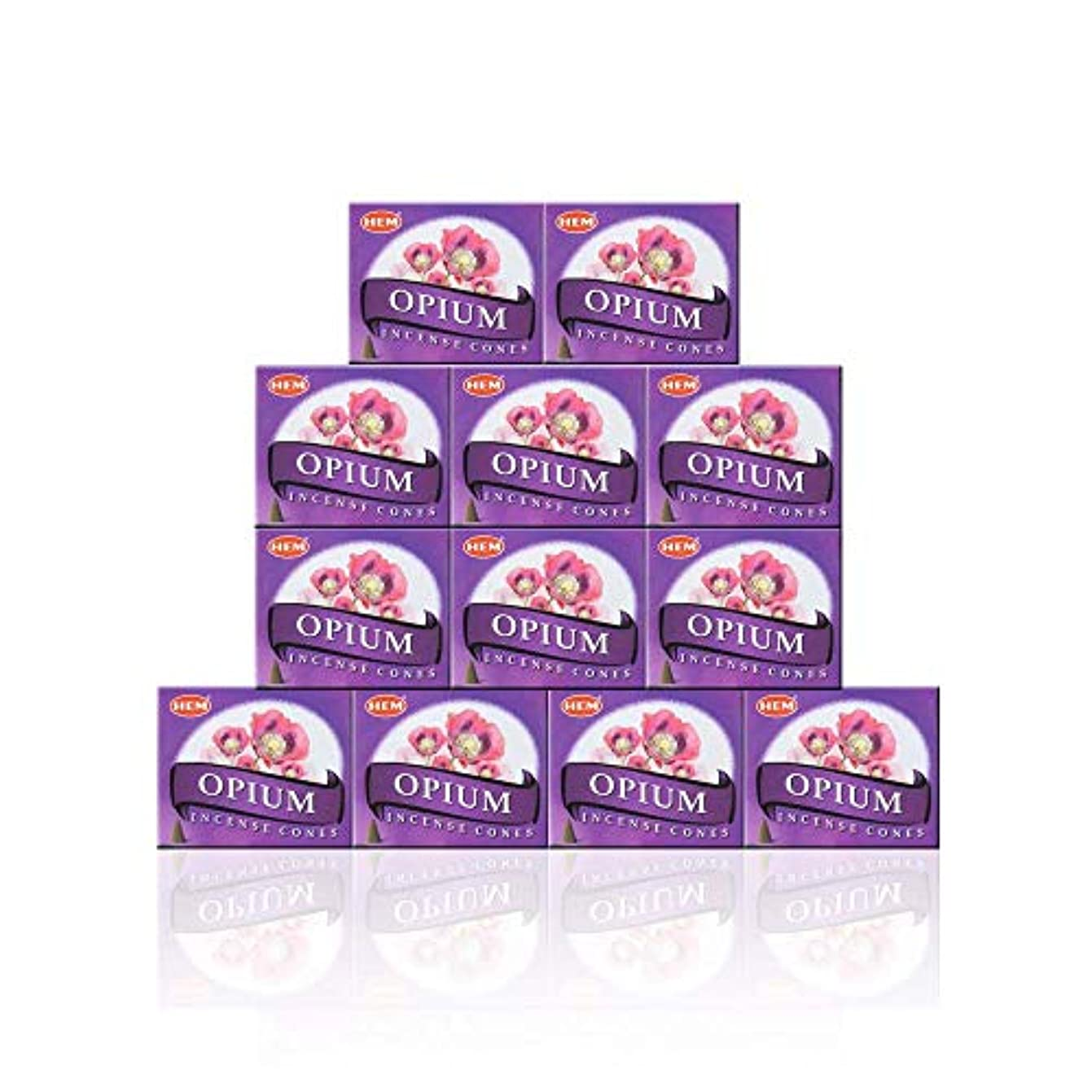 引くストレスの多い実業家HEM(ヘム) オピウム香 コーンタイプ OPIUM CORN 12箱セット