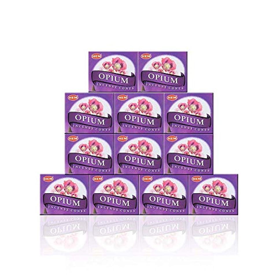 練るオプショナル甘美なHEM(ヘム) オピウム香 コーンタイプ OPIUM CORN 12箱セット