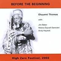 Before the Beginning by Oluyemi Thomas (2002-05-03)