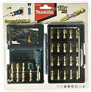 Makita B-49915 Impact GOLD 26 pce Torsion Screwdriver Driver Bit Set Trade Pro