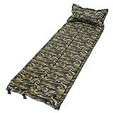 MRG キャンピングマット 折り畳み 自動膨張式 エアー マット ベッド 連結可能 軽量 コンパクト 収納 キャンプ アウトドア マット (カモ)