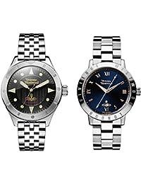 [ヴィヴィアン ウエストウッド]Vivienne Westwood ペアBOX付 ペアウォッチ メンズ レディース 39ミリ 34ミリ シルバー ステンレス VV160BKSLVV152NVSL 腕時計 [並行輸入品]