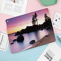 iPad Mini4 ケース 超薄型 TPU ソフト PUレザー スマートカバー 2つ折り スタンド スマートキーボード対応 キズ防止 指紋防止 [オート スリープ/スリー プ解除]妖精の空の光と川沿いの黄金の砂浜でリラックスしたシンプルライフアート写真
