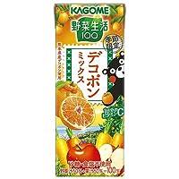 カゴメ 野菜生活100 デコポンミックス 195ml紙パック×24本入×(2ケース)
