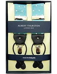 ALBERT THURSTON アルバートサーストン サスペンダー アイスブルー ホワイト ドット柄