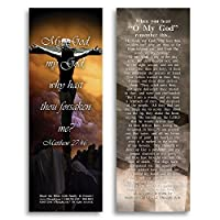 eThought Bible Verse Cards by - Matthew 27:46 - O My God: Psalm 22 Foretells Jesus' Crucifixion - Pack of 25 Bookmark Size Cards (BB-B022-25) [並行輸入品]
