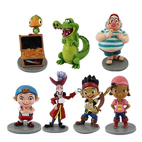 디즈니 피터팬 피규어 장난감 7Pcs Set Jake and The Neverland Pirates Figures [병행수입품]-t6