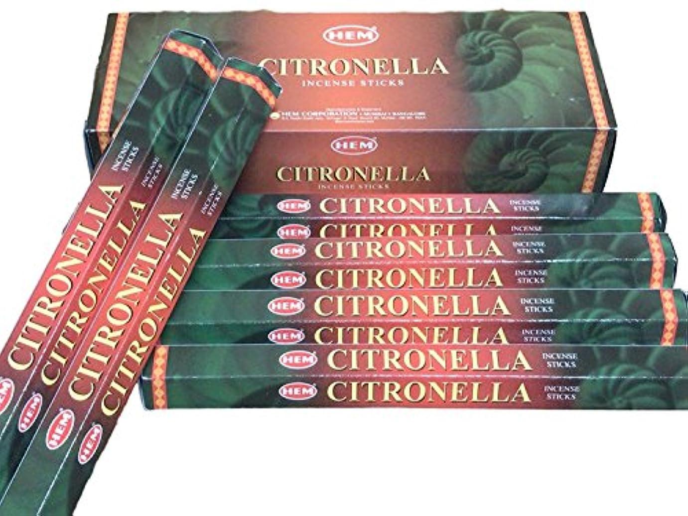 つらいスーツボーナスHEM ヘム シトロネラ CITRONELLA ステック お香 6本 セット
