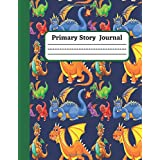 Mystery Dragons: Primary Story Journal and Grade K-2 Dotted Midline Composition Notebook