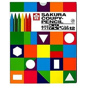 サクラクレパス 色鉛筆 クーピー 12色 紙箱入り FY12K