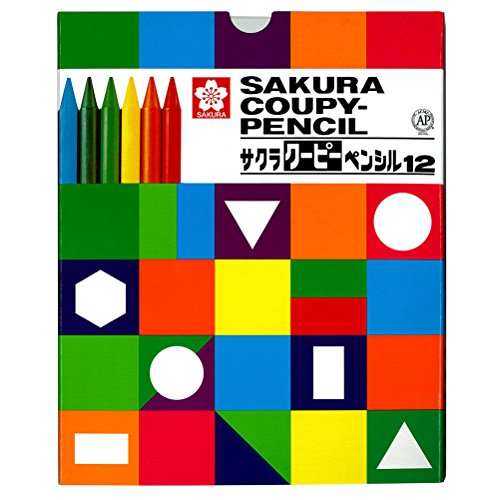 サクラクレパス クーピーペンシル12色(紙箱) FY12K 2個