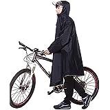 レインコート EocuSun 自転車 バイク ロングポンチョ 雨具 通勤 通学 フリーサイズ 男女兼用