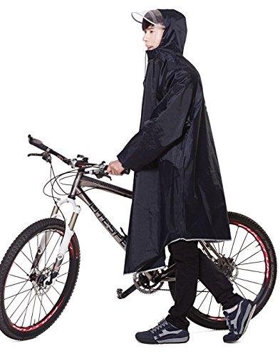 レインコート EocuSun 自転車 バイク ロングポンチョ 雨具 通勤 通学 フリーサイズ 男女兼...