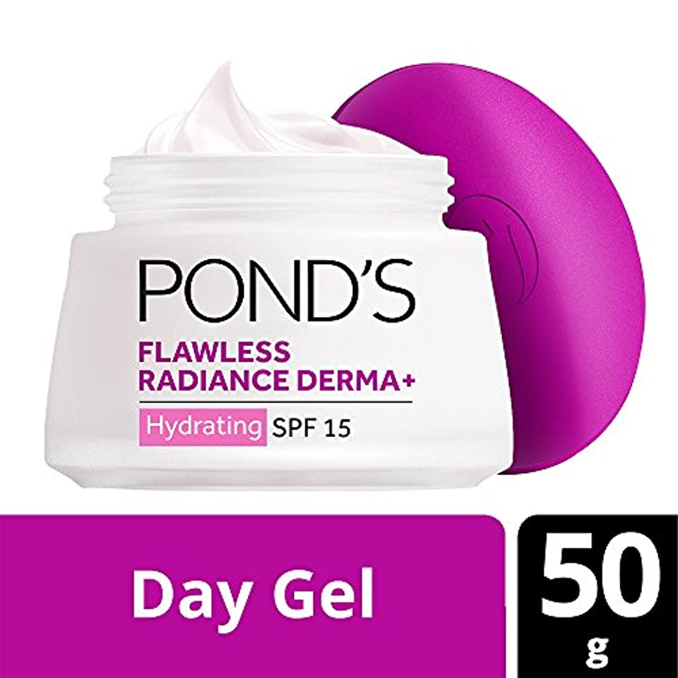 セールスマンアボート害Pond's SPF15 PA++ Flawless Radiance Derma+ Hydrating Day Gel, 50g (Parellel Import)
