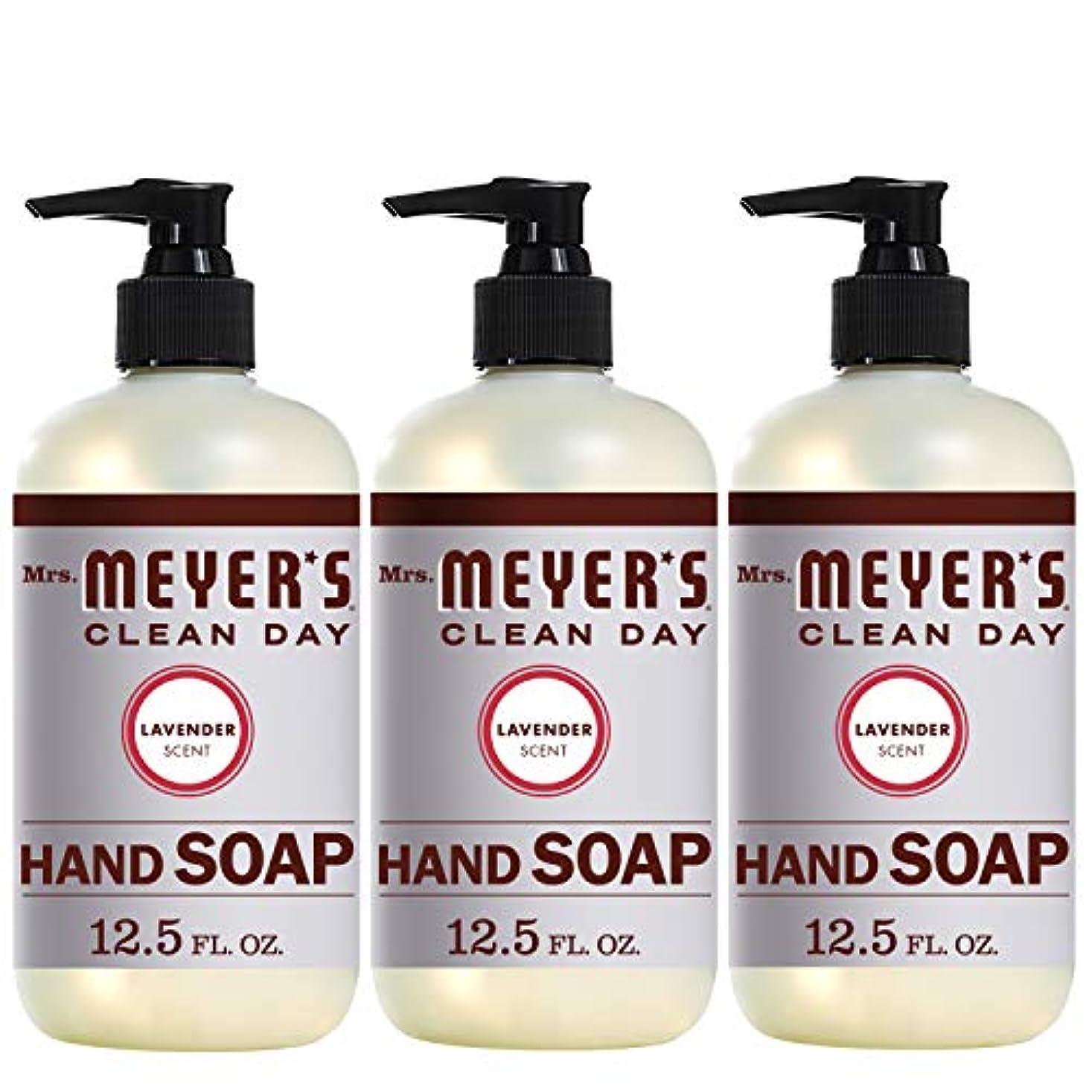 バリケードサスティーンしないMrs。Meyer 's Clean Day Hand Soap、ラベンダー、12.5 FL OZ