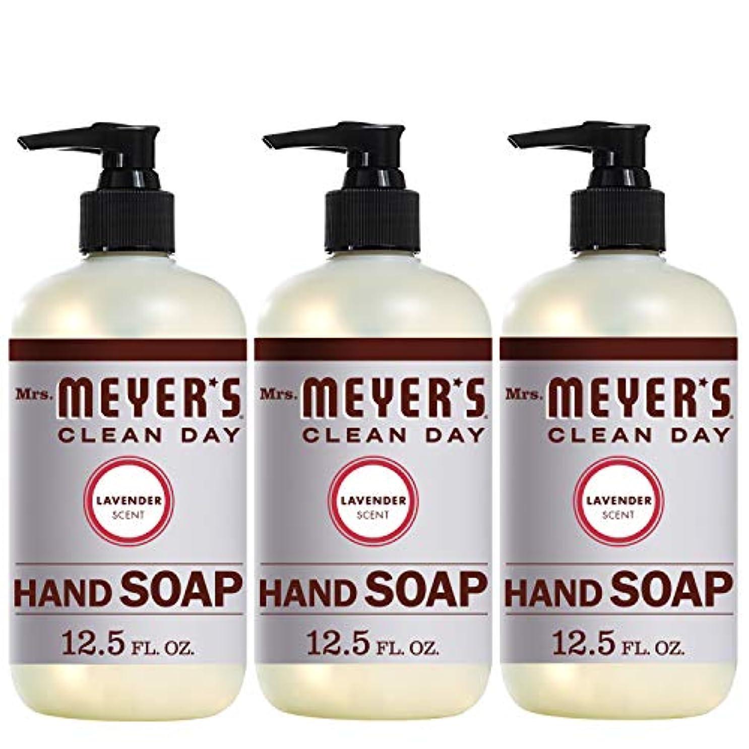 施設持参幸福Mrs。Meyer 's Clean Day Hand Soap、ラベンダー、12.5 FL OZ