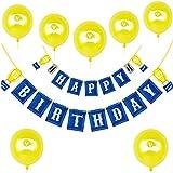 ビデオゲーム ハッピーバースデーバナー ブルー パーソナライズされたバースデーフラッグバナー ゲームパーティー用品 男の子 ゲーマー 誕生日パーティー 記念品 デコレーション