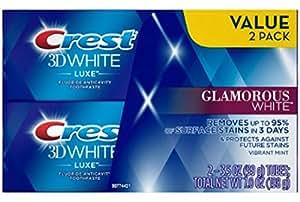 クレスト 3D ホワイト グラマラス ホワイト 歯磨き粉 99g (2本セット)[並行輸入品]
