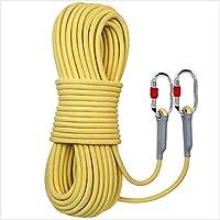 静的ロープクライミングロープ安全ロープ空中作業エスケープコード屋外消防ロープラペリングロープ6MM / 8MM / 10.5MM / 2安全バックル付き