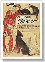 スタンラン Clinique Cheron【ポスター+フレーム】約71x51cm ホワイト