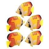 Amazon.co.jpuxcell アクアリウム魚飾り ラブリースタイル イエロー、赤イエロー、赤 素晴らしい装飾 洗えると耐久性
