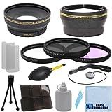 Proシリーズ72mm 0.43X広角レンズ+ 2.0X望遠レンズ+ 3ピースフィルタセットwithデラックスレンズアクセサリーキットfor Nikon af-s ..