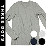 three dots(スリードッツ) メンズ Tシャツ 長袖 アメリカ製