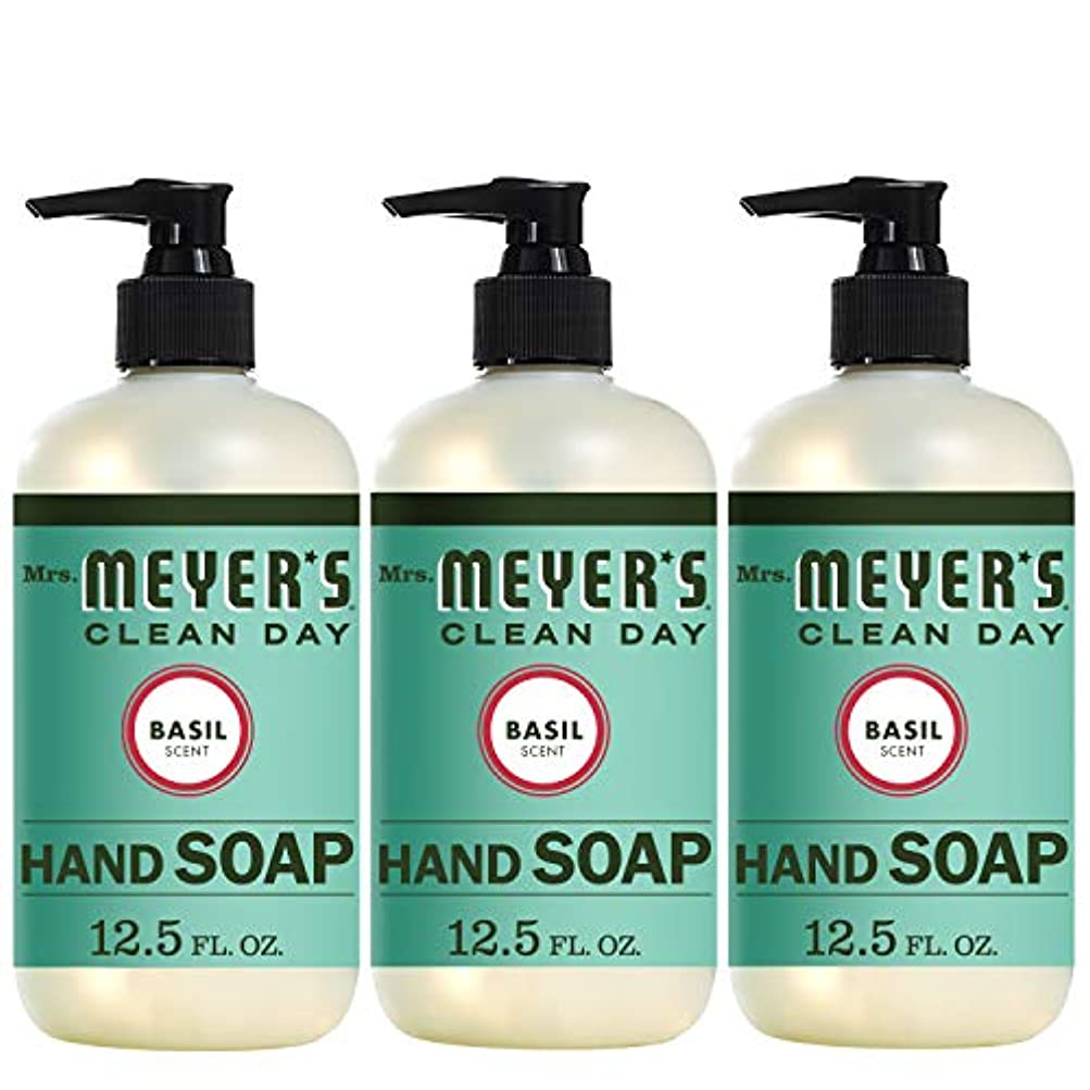 判読できない静かに剪断Liquid Hand Soap - Basil - Case of 6-12.5 oz by Mrs. Meyer's