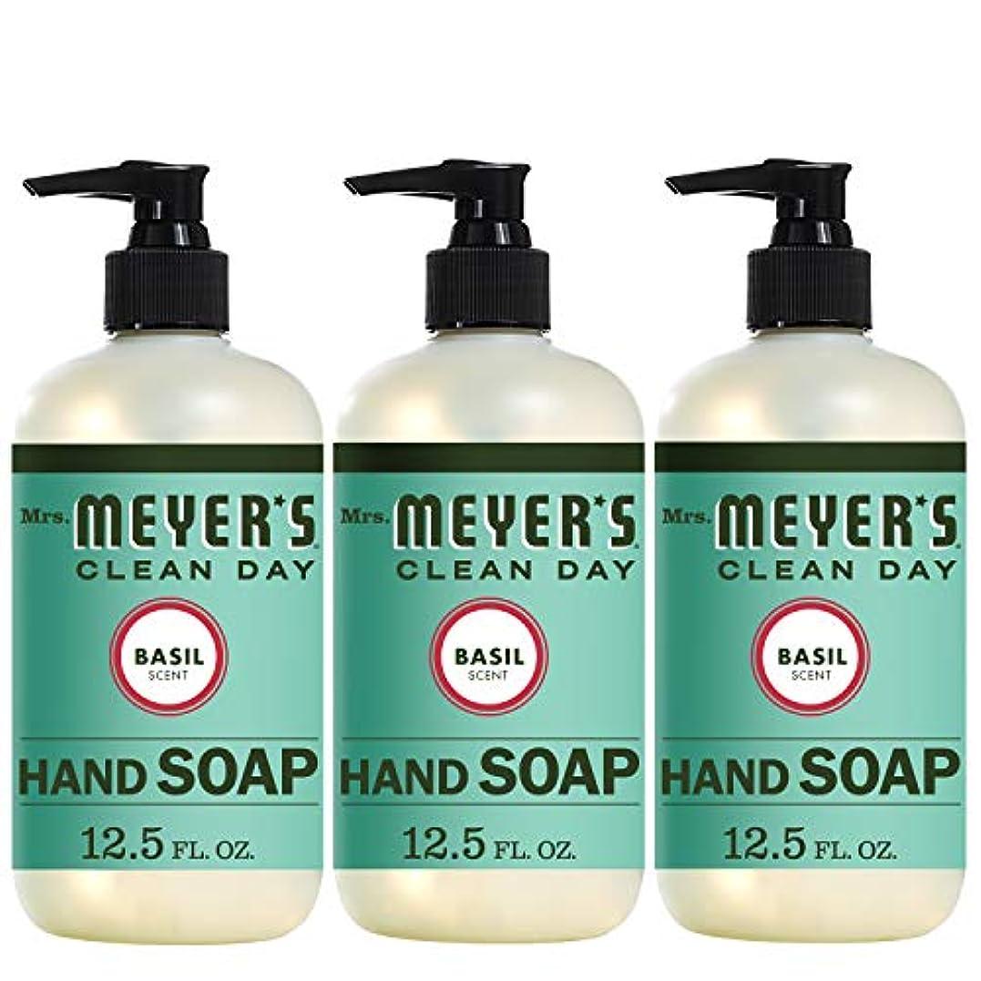 ディスコ海外でしっとりLiquid Hand Soap - Basil - Case of 6-12.5 oz by Mrs. Meyer's