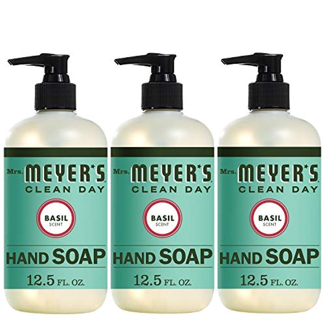 リビジョン生まれ現実Liquid Hand Soap - Basil - Case of 6-12.5 oz by Mrs. Meyer's