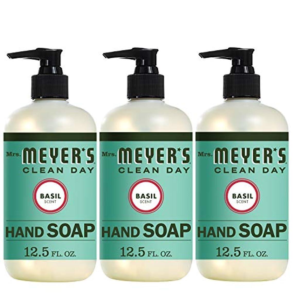頑固な横に記憶Liquid Hand Soap - Basil - Case of 6-12.5 oz by Mrs. Meyer's
