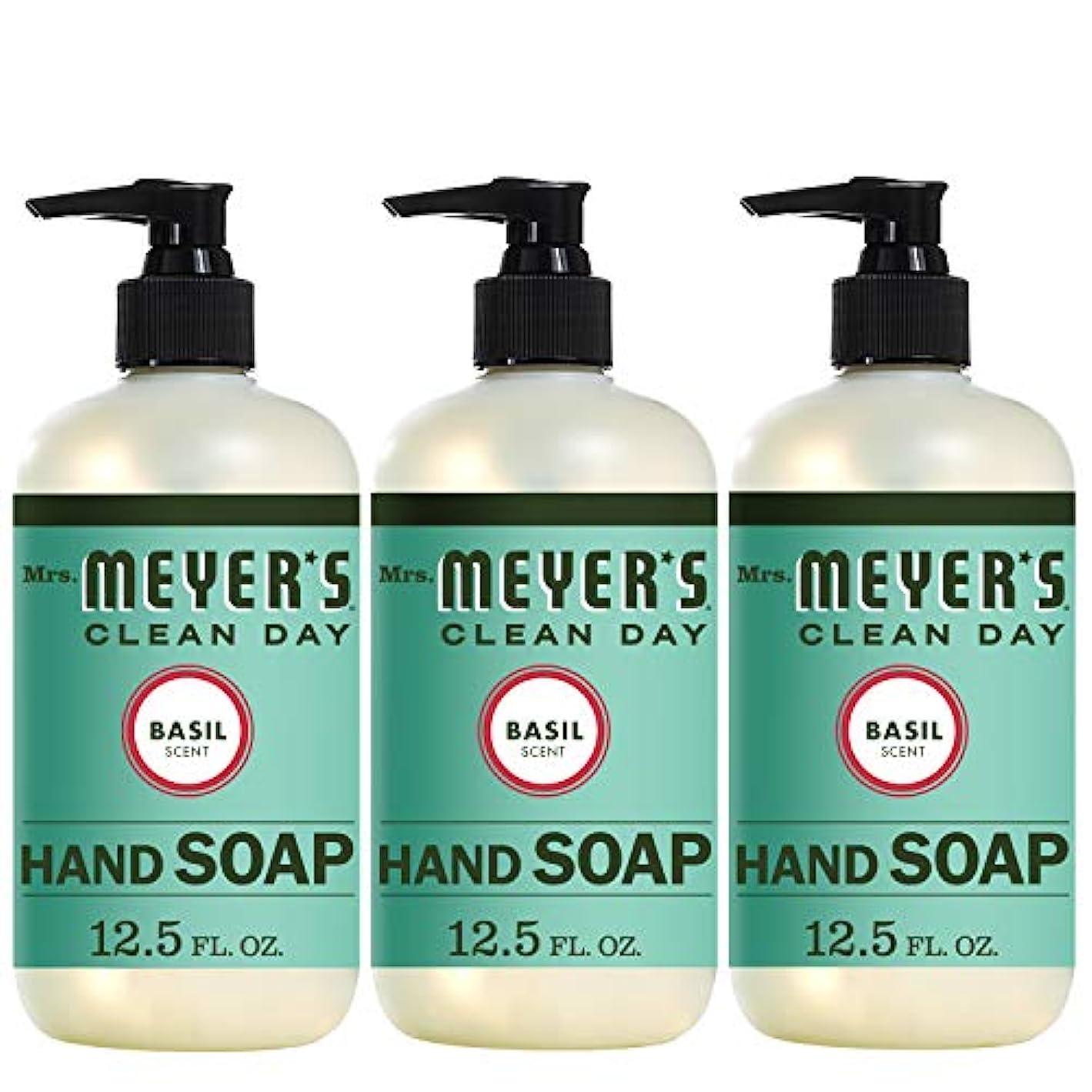 司令官午後苗Liquid Hand Soap - Basil - Case of 6-12.5 oz by Mrs. Meyer's