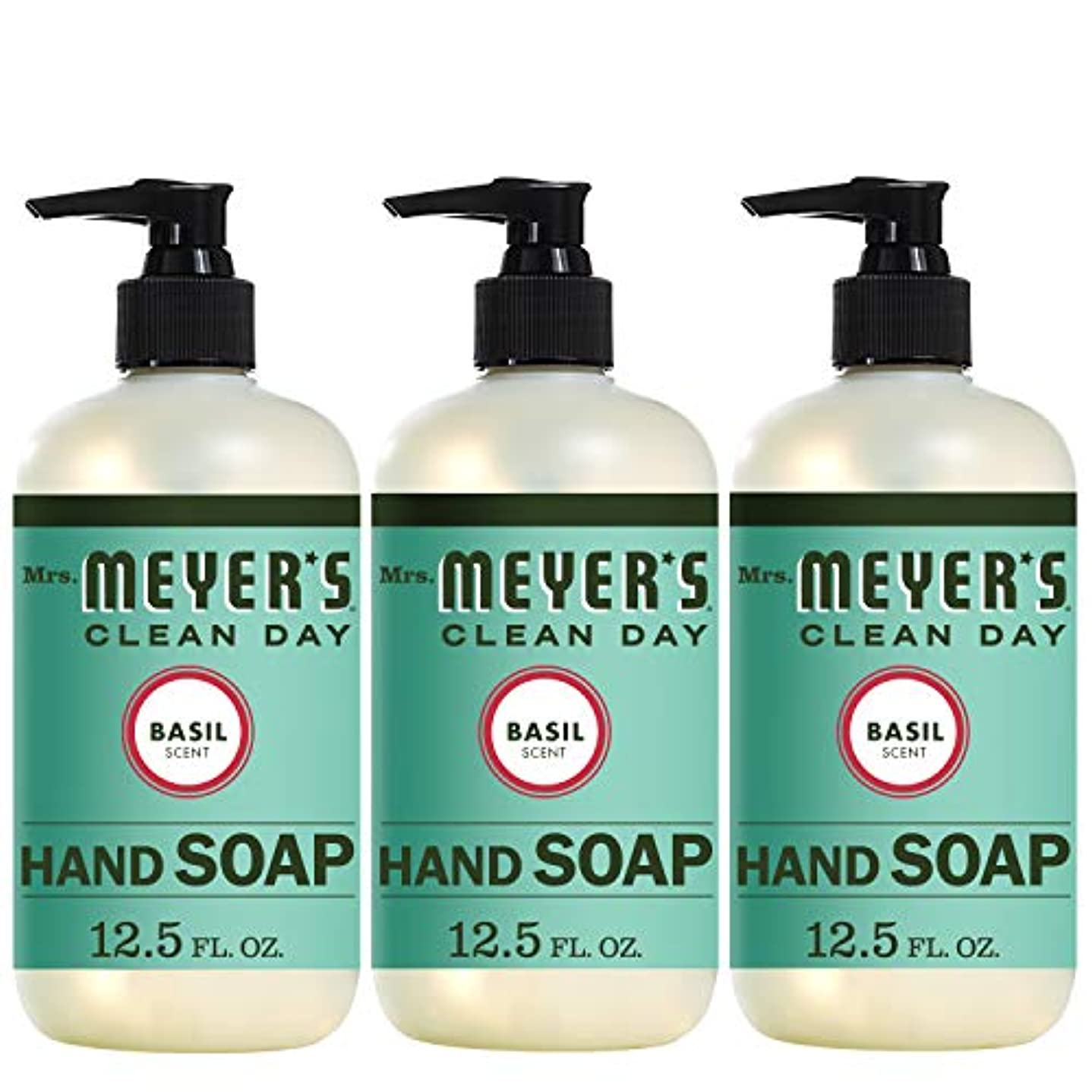 エレガント第三教室Liquid Hand Soap - Basil - Case of 6-12.5 oz by Mrs. Meyer's
