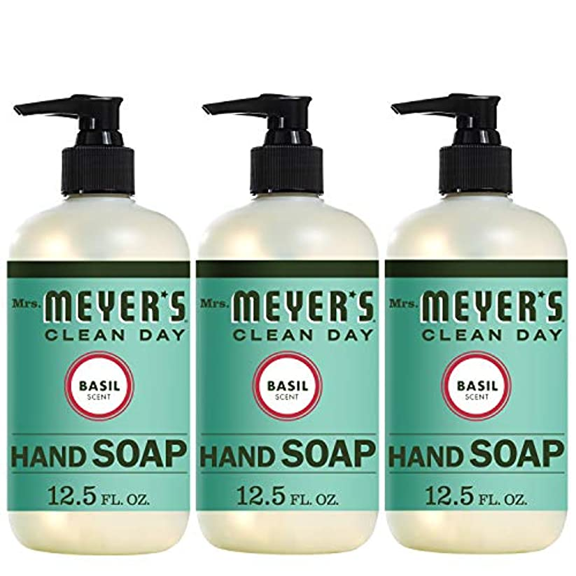 愛情豊かにするトラフLiquid Hand Soap - Basil - Case of 6-12.5 oz by Mrs. Meyer's