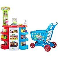 [ N ' Play 68 Pieces Pretend Play Super Fun Kids Grocery Supermarket Playセット