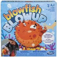 Hasbro Gaming E3255 Blowfish Blowup Game for Kids Blue