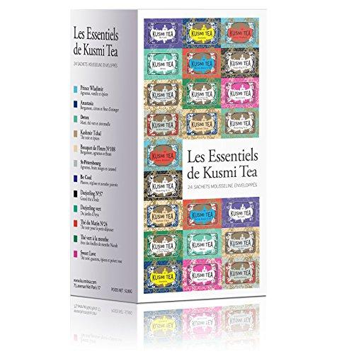 (KUSMI TEA) クスミティー エッセンシャル エンヴェロープ ティーバッグ 2.2g×24袋入り (12種類、各2袋入り) [正規輸入品]