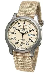 [セイコーインポート]SEIKO import 腕時計 海外モデル メッシュベルト 自動巻 ベージュ SNK803K2 メンズ [逆輸入品]