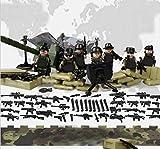 互換あり 陸軍指揮所、兵器フィギュアセット 武器兵装迷彩