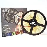 ぶーぶーマテリアル LEDテープ シャンパンゴールド 暖白 600連 高輝度 5m 12V 白ベース 防水 IP65 【カーパーツ】