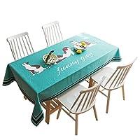 テーブルクロス、正方形の長方形のラウンドコットンと麻の耐摩耗性防塵デスクデスクドレッシングテーブルクロス (サイズ さいず : 100*140cm)