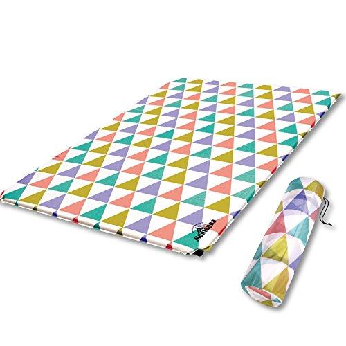 [해외]울트라 와이드 더블 화려하고 세련된 에어 매트 캠핑 매트/Ultra wide double size colorful and stylish air mat camp mat